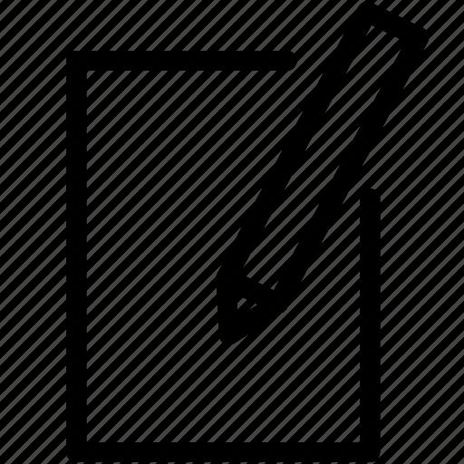 create, line icon, new, pixel icon pack, write icon