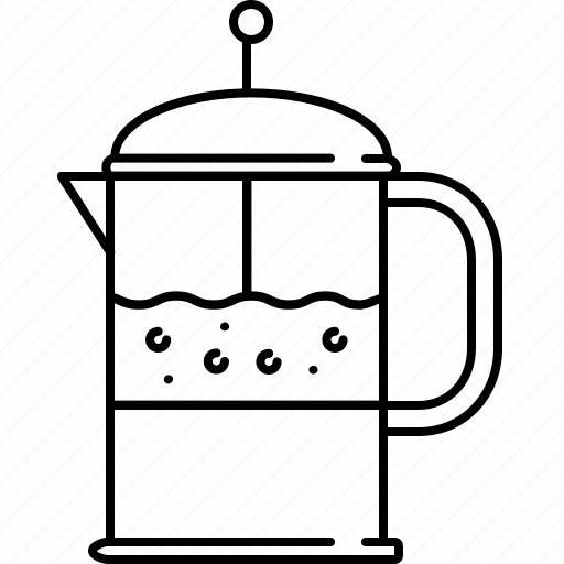breakfast, coffee, drink, equipment, kitchen, maker icon
