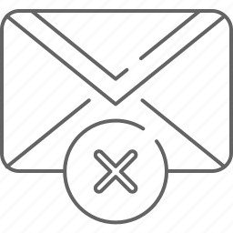 cancel, communication, delete, email, envelope, message icon