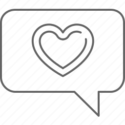 chat, favourite, heart, like, love, message, text icon