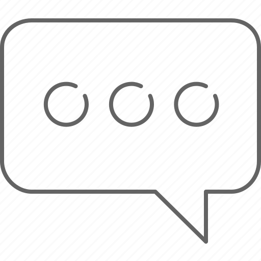 chat, communication, message, text, typing icon