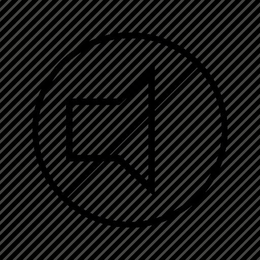 mute, quiet, silent, speaker icon