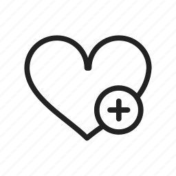 add, heart, plus, valentine day icon