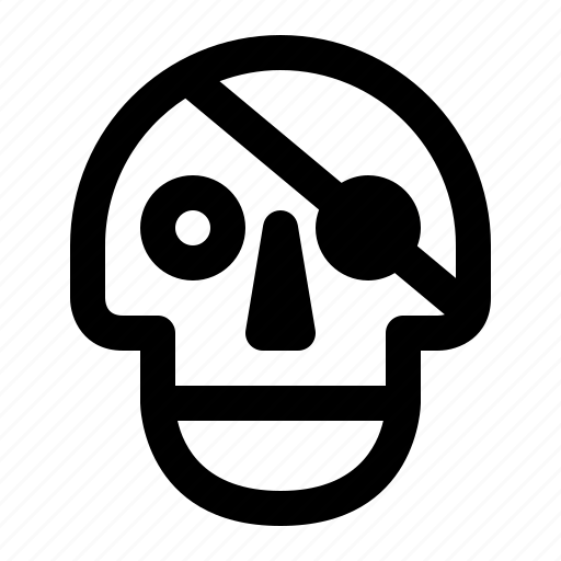 death, piracy, pirate, skeleton, skull, spy, virus icon
