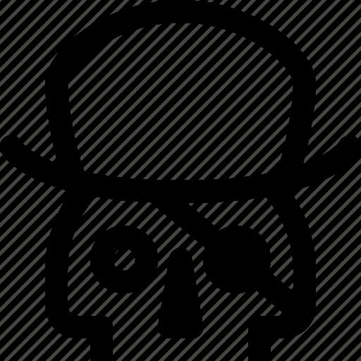 death, piracy, pirate, skeleton, skull, spy, virus icon