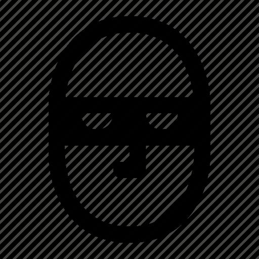 burglar, cracker, hacker, inpersonality, mask, security, thief icon