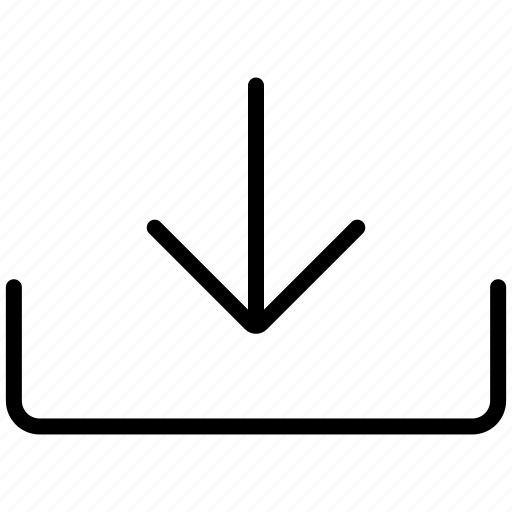 arrow, down, download, downloads icon