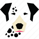animal, animal face, cartoon, dalmatian, dalmatian dog, dog, linear animal icon
