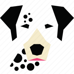 animal, animal face, cartoon, dalmatian, dalmatian dog, dog, linear animal icon