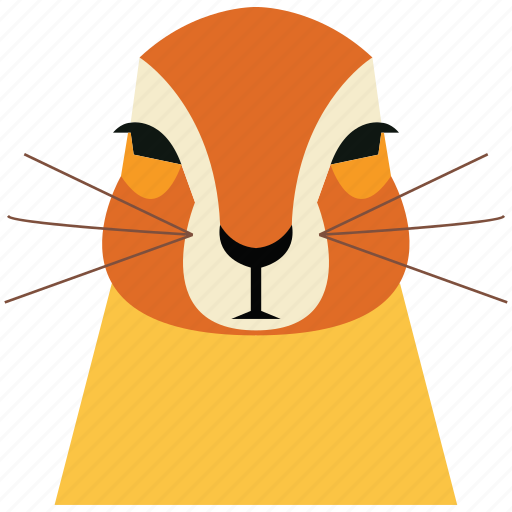 animal, animal face, cartoon, hamster, linear animal, rabbit, rabbit face icon
