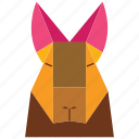 animal, animal face, cartoon, jung, linear animal icon