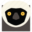 animal, animal face, ape, cartoon, linear animal, monkey, monkey face icon
