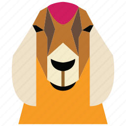 animal, animal face, goat, goat face, linear animal, sheep icon