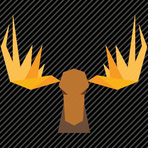animal, animal face, antilope, cartoon, deer, deer face, linear animal icon