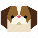 animal, animal face, cartoon, dog, dog face, linear animal, pet icon