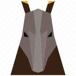 animal, animal face, cartoon, linear animal icon