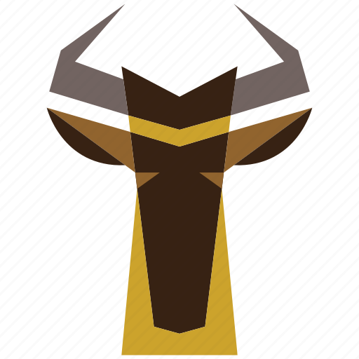 animal, animal face, antilope, antilope face, cartoon, linear animal, ram icon