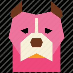 animal, animal face, cartoon, dog, dog face, linear animal, pitbull icon