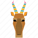 animal, animal face, antilope, cartoon, deer, linear animal icon