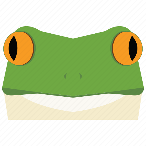 animal, animal face, cartoon, frog, frog face, frog prince, linear animal icon