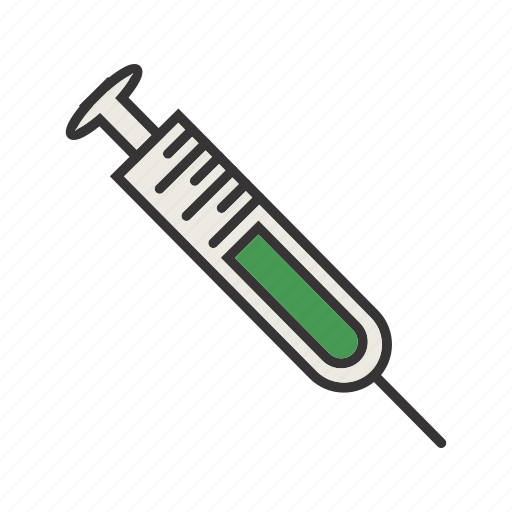 healthcare, injecting, medical, syring icon