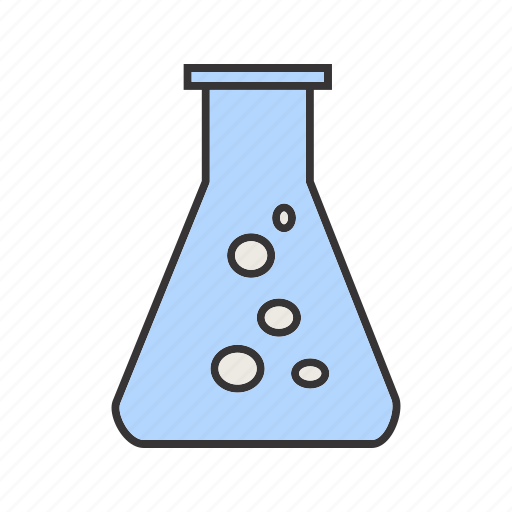 flask, lab, laboratory, science, test icon