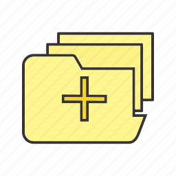data, files, folder, healthcare, medical, storage icon