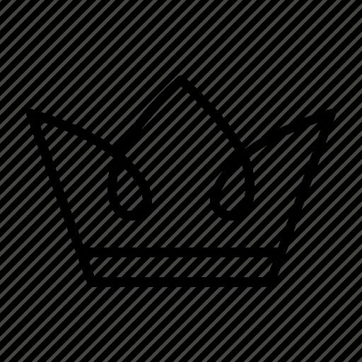 crown, king, monarch, premium, queen, royal icon