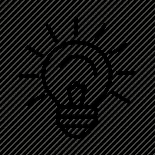 brainstorm, bulb, idea, light, lightbulb icon