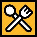 fork, knife, meal, restaurant icon