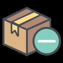 box, boxperspectiveminus, logistic, minus, shipping, transportation, truck icon