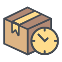 logistic, delay, shipping, transportation, boxperspectivedelay, time, truck icon