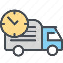 cargo, delivery, logistics, packages, shipping, truck, truckdelay icon