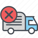 cargo, delivery, logistics, packages, shipping, truck, wrongtruck icon