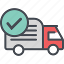 cargo, delivery, logistics, packages, righttruck, shipping icon