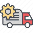 cargo, delivery, setting, shipping, transport, truck, vehicle icon