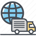 cargo, delivery, logistics, packages, shipping, trucktraveling icon