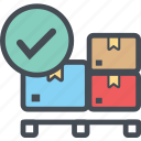 boxdropright, cargo, delivery, logistics, packages, shipping icon