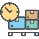 boxdropdelay, cargo, delivery, logistics, packages, shipping icon