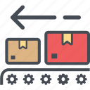 boxout, cargo, delivery, logistics, packages, shipping icon