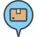 cargo, delivery, logistics, packages, popupdialoguebox, shipping icon