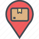 cargo, delivery, destinationtargetbox, logistics, packages, shipping icon