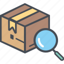 boxperspectiveidentify, cargo, delivery, logistics, packages, shipping icon