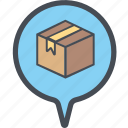 cargo, delivery, logistics, packages, popupdialogueboxperspective, shipping icon