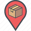 cargo, delivery, destinationtargetboxperspective, logistics, packages, shipping icon