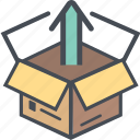 boxopentakeout, cargo, delivery, logistics, packages, shipping icon