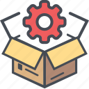 boxopenconfigurate, cargo, delivery, logistics, packages, shipping icon