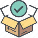 boxopenright, cargo, delivery, logistics, packages, shipping icon