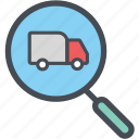 cargo, delivery, logistics, packages, shipping, truckanalysis icon