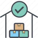 cargo, delivery, logistics, packages, shipping, storageright icon